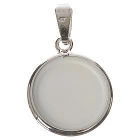 Medalla redonda de plata, 18mm Medjugorje s2