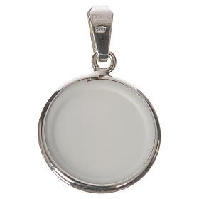 Medalla redonda de plata, 18mm Jesús Misericordioso s2