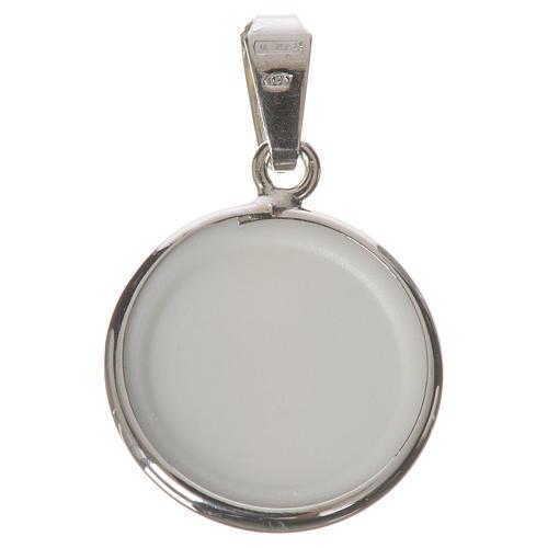 Medalla redonda de plata, 18mm Jesús Misericordioso 2