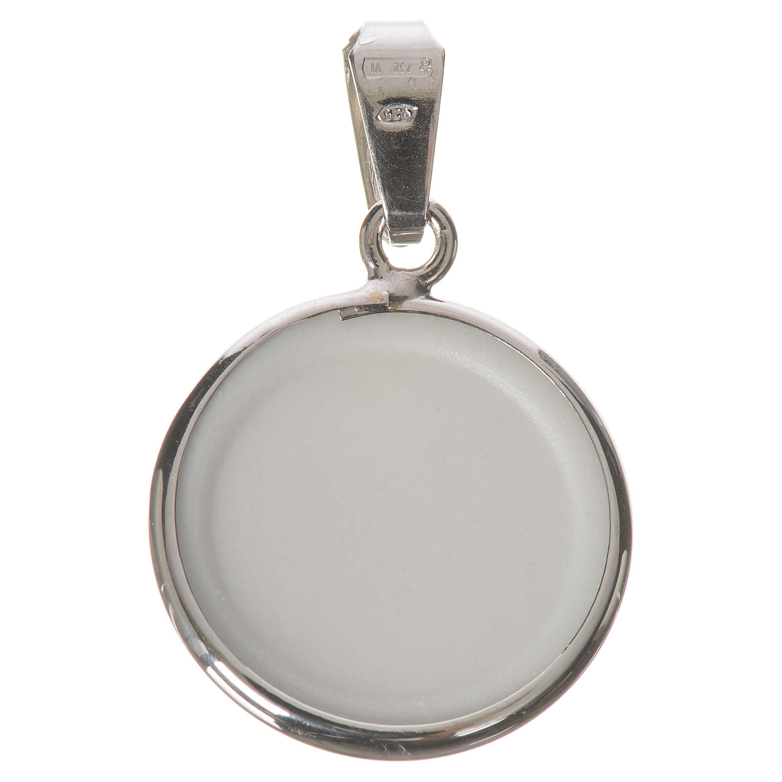 Round medal in silver, 18mm Merciful Jesus 4