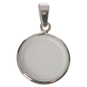 Round medal in silver, 18mm Merciful Jesus s2