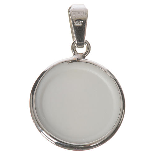 Round medal in silver, 18mm Merciful Jesus 2