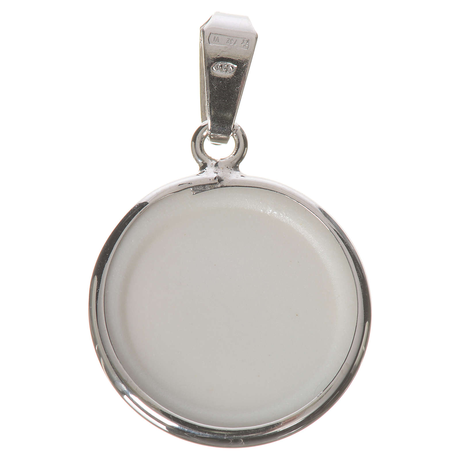 Round medal in silver, 18mm Our Lady of Perpetual help 4