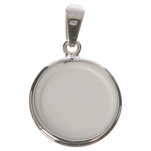 Round medal in silver, 18mm Our Lady of Perpetual help 2