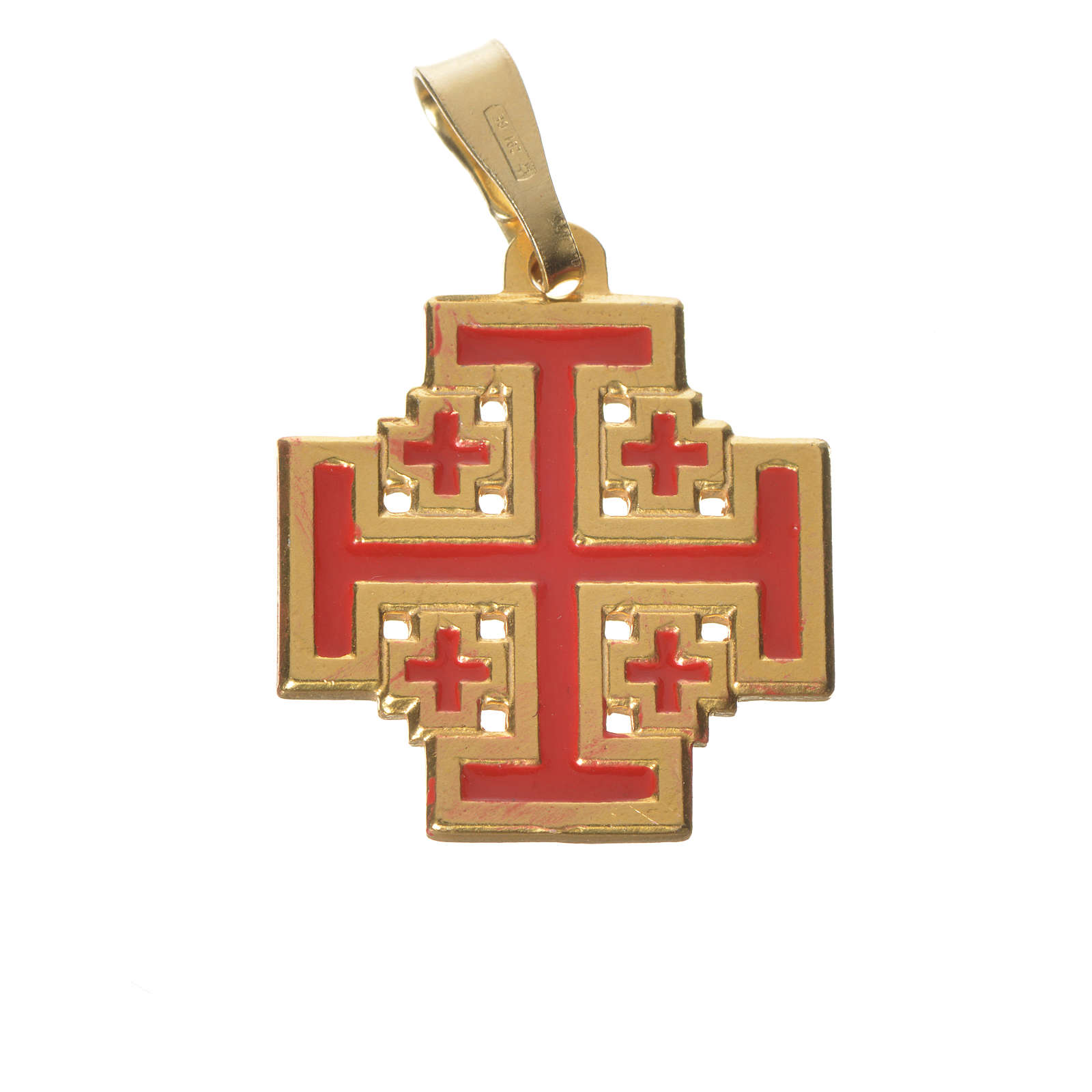 Pendant with Jerusalem cross in 925 silver and enamel 4