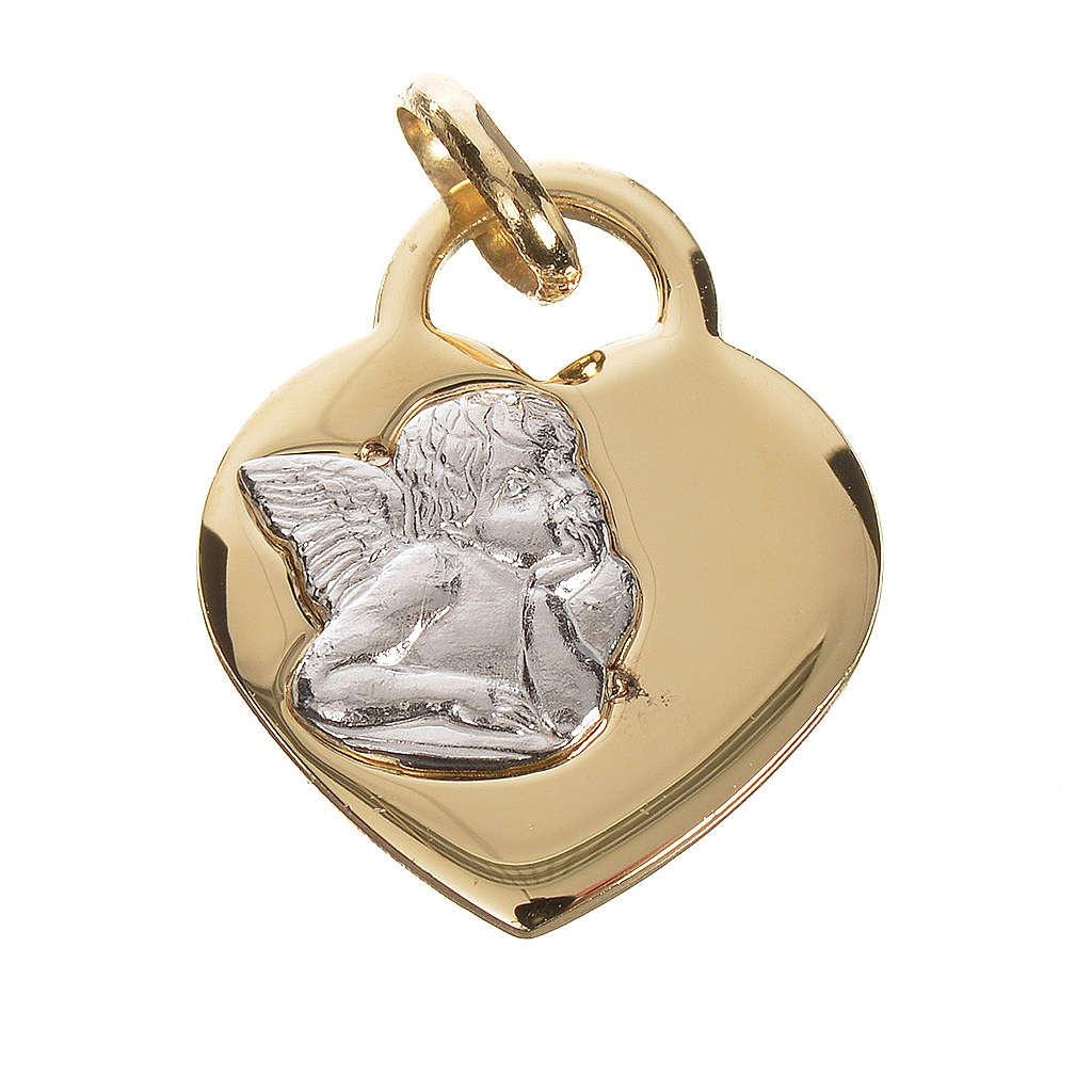 Cuore con angelo oro 750/00 giallo - gr. 2,07 4