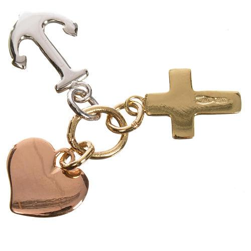 Colgante Fe, Esperanza y Caridad. Oro 750/00 - gr. 1,35 2