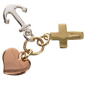 Faith, Hope, Charity pendant in 750 gold 1.35gr s2