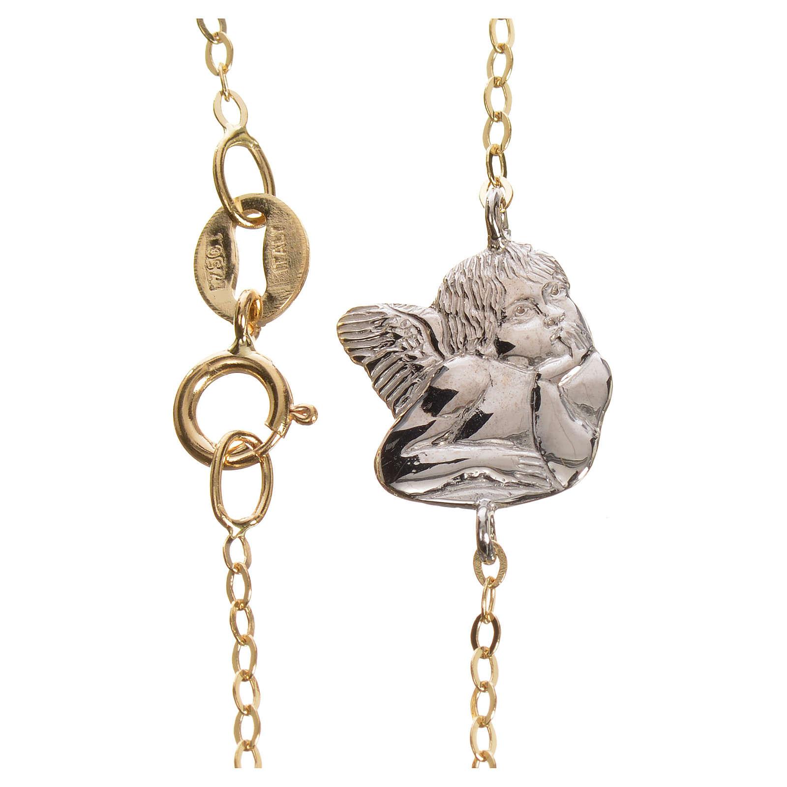 Bracciale angelo oro 750/00 bianco e giallo - gr. 1,27 4