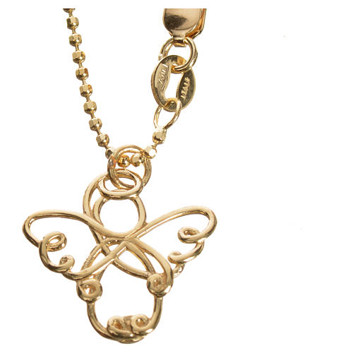 Angelo stilizzato oro 750/00 giallo - gr. 3,64 3