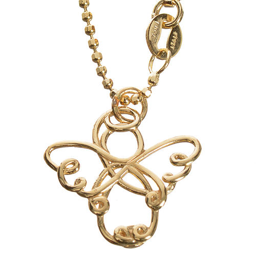 Angelo stilizzato oro 750/00 giallo - gr. 3,64 1