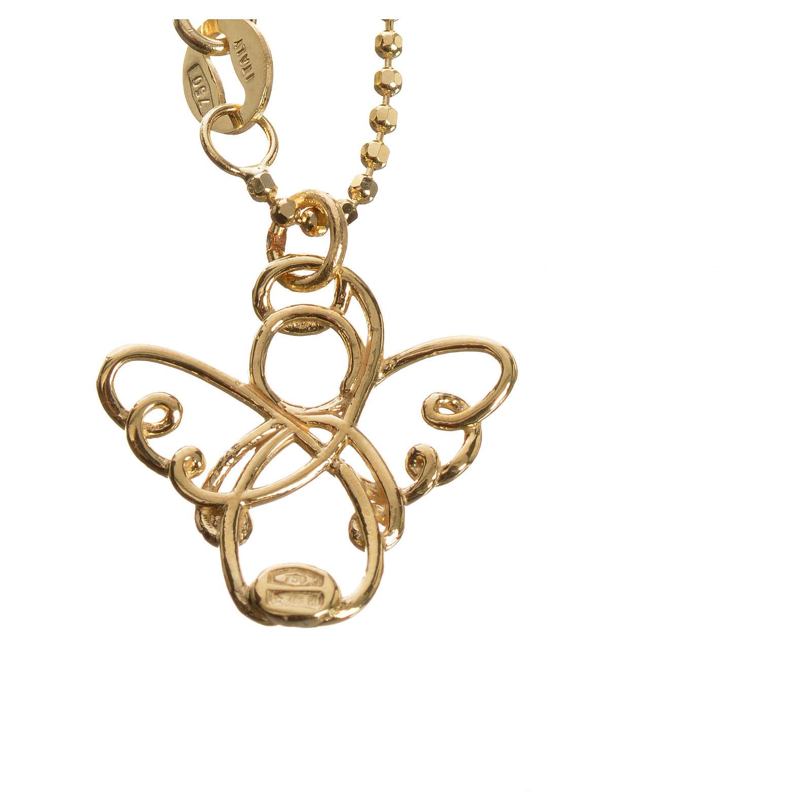 Anjo estilizado ouro 750/00 amarelo 3,64 g 4