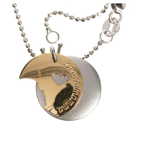 Medaglia Cuore di Mamma oro 750/00 bianco giallo - gr. 4,98 3
