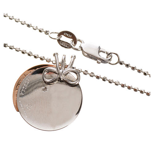 Medalla Corazón de Mamá de Oro 750/00 Blanco y Rojo - gr 4,92 5