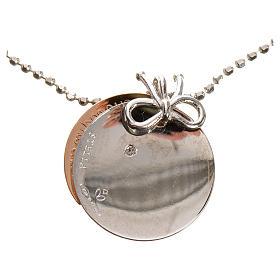 Medaglia Cuore di Mamma oro 750/00 bianco rosso - gr. 4,92 s4