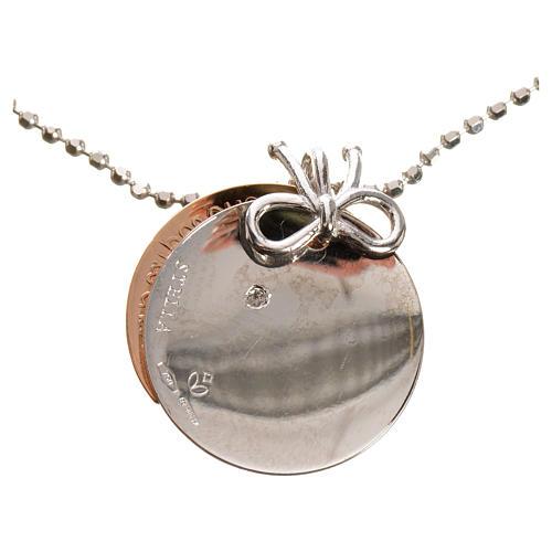 Medaglia Cuore di Mamma oro 750/00 bianco rosso - gr. 4,92 9