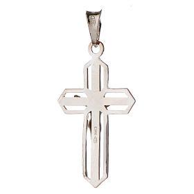Pendentif crucifix argenté argent 800 s2