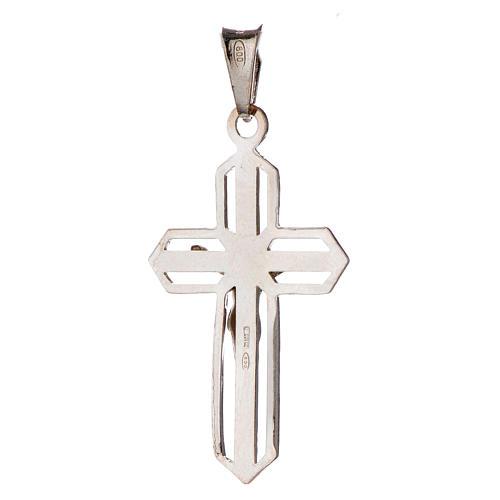 Pendentif crucifix argenté argent 800 2