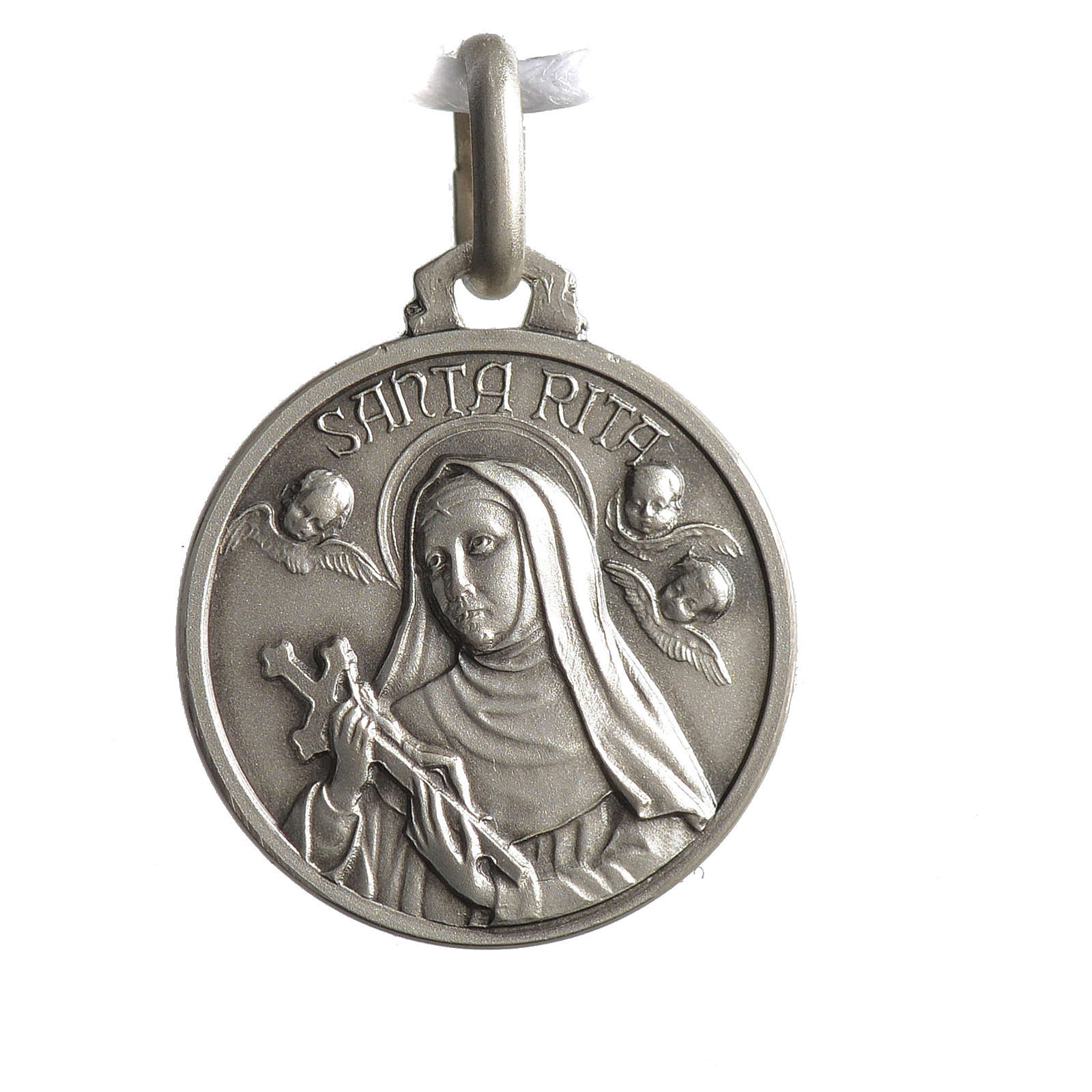 Medal of Sainte Rita 925 silver 4