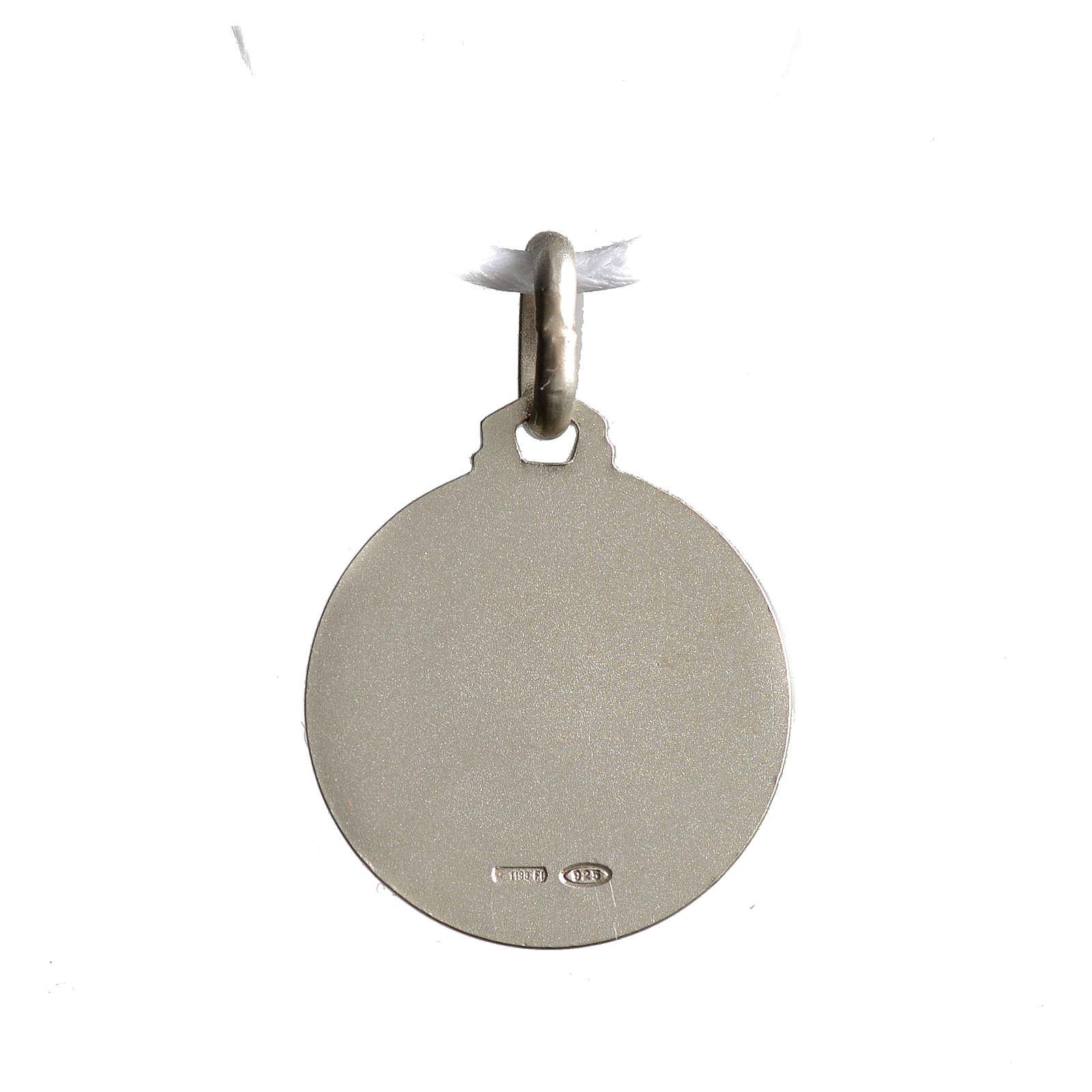 Medaglietta Santa Rita argento 925 4