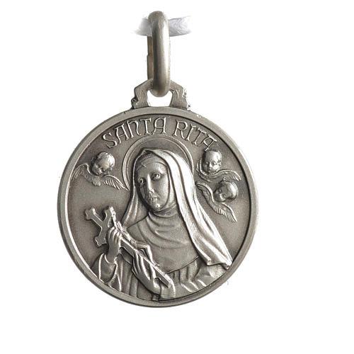 Medaglietta Santa Rita argento 925 1