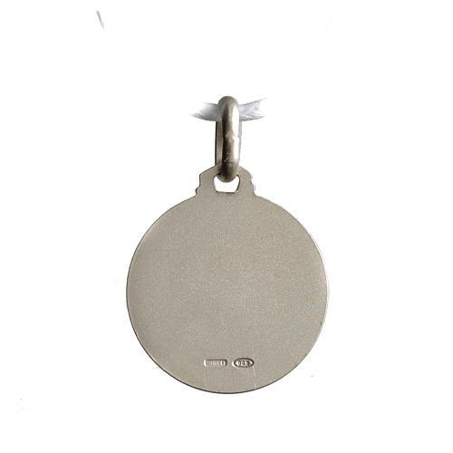 Medaglietta Santa Rita argento 925 2