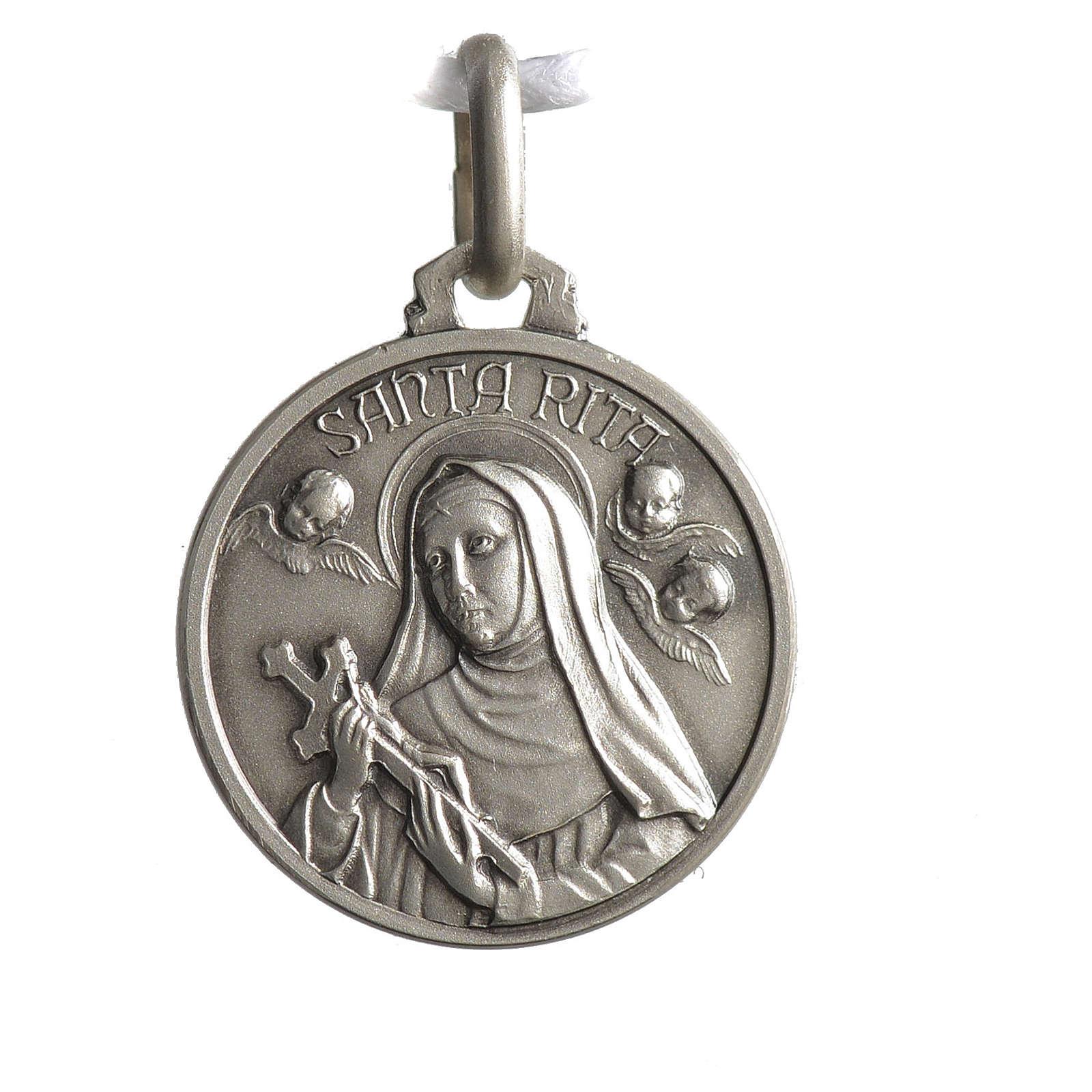 Medalik świętej Rity srebro 925 4