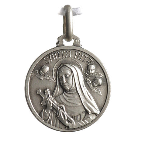 Medalik świętej Rity srebro 925 1