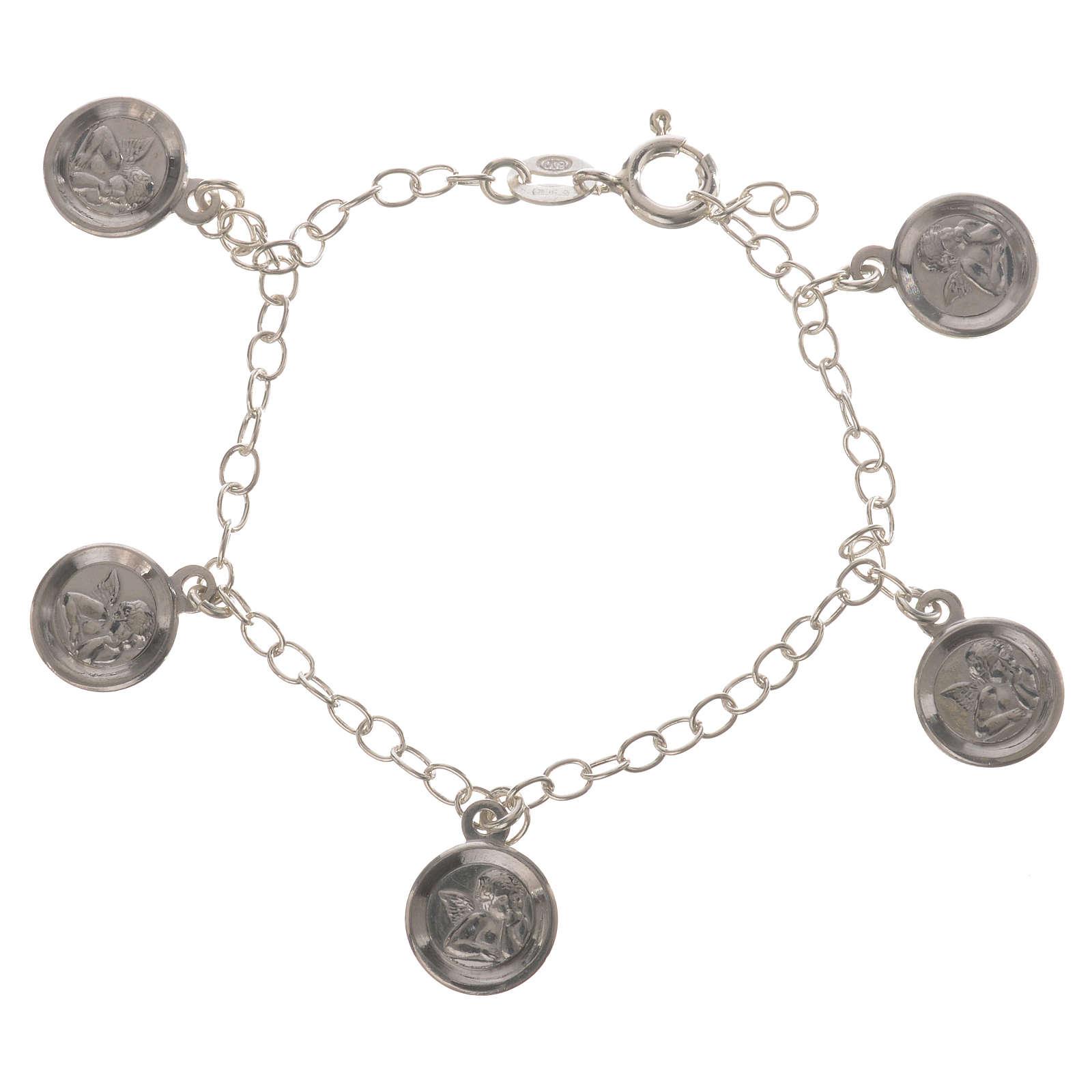 Bracciale Arg. 800 medaglie Angelo Custode 4