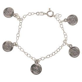 Bracciale Arg. 800 medaglie Angelo Custode s1