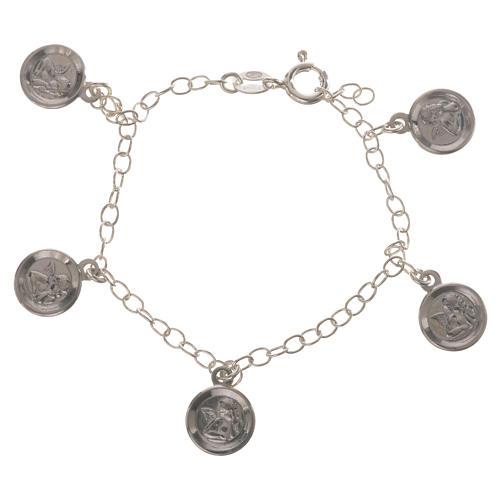Bracciale Arg. 800 medaglie Angelo Custode 1