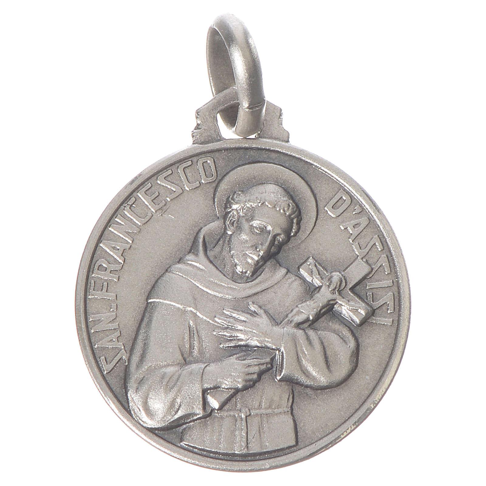 Medalha São Francisco prata 925 4