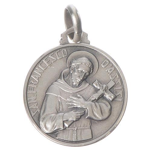 Medalha São Francisco prata 925 1