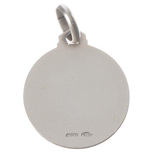 Medalha São Francisco prata 925 2