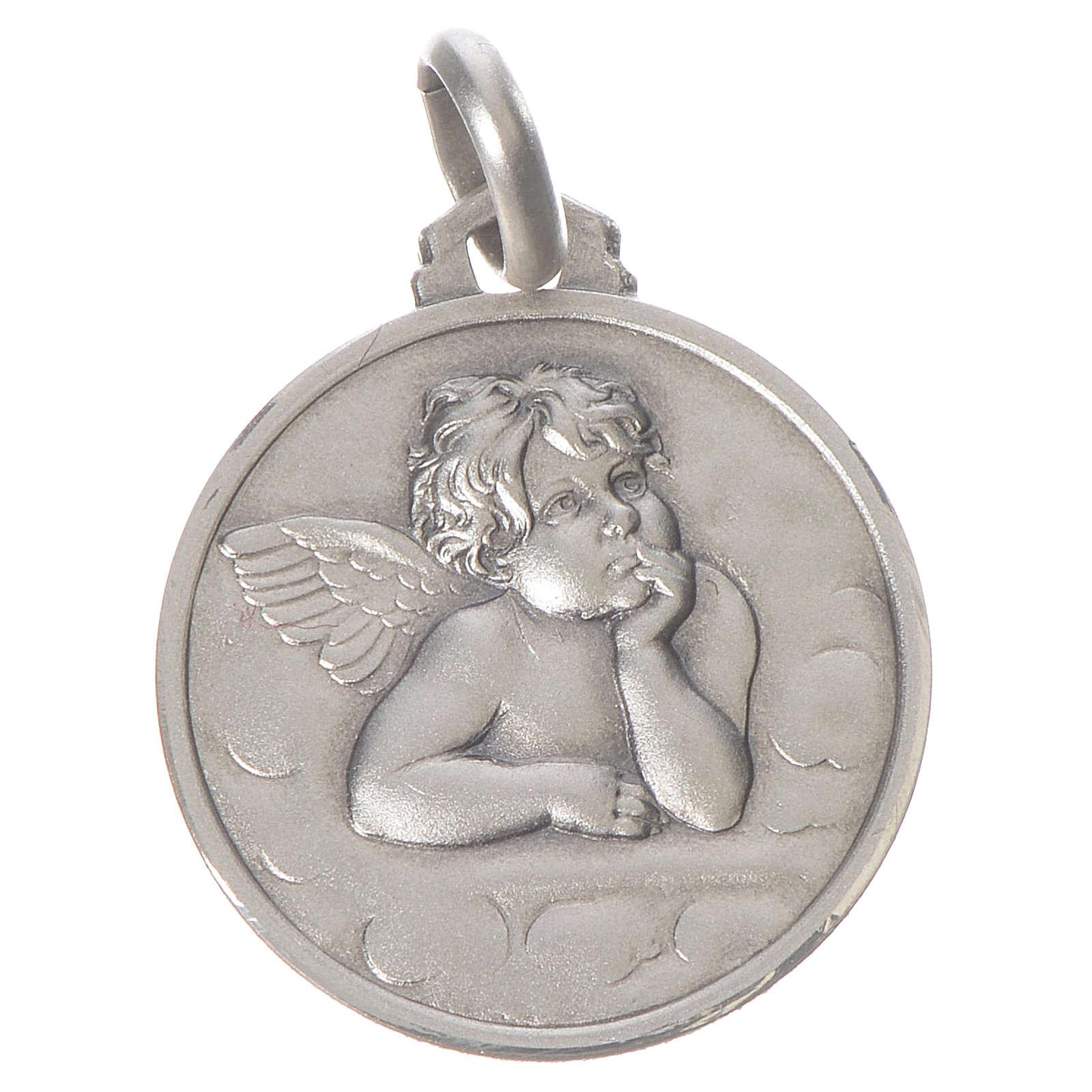 Medalha Anjo Raffaello prata 925 4