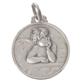 Pingentes, Cruzes, Broches, Correntes: Medalha Anjo Raffaello prata 925