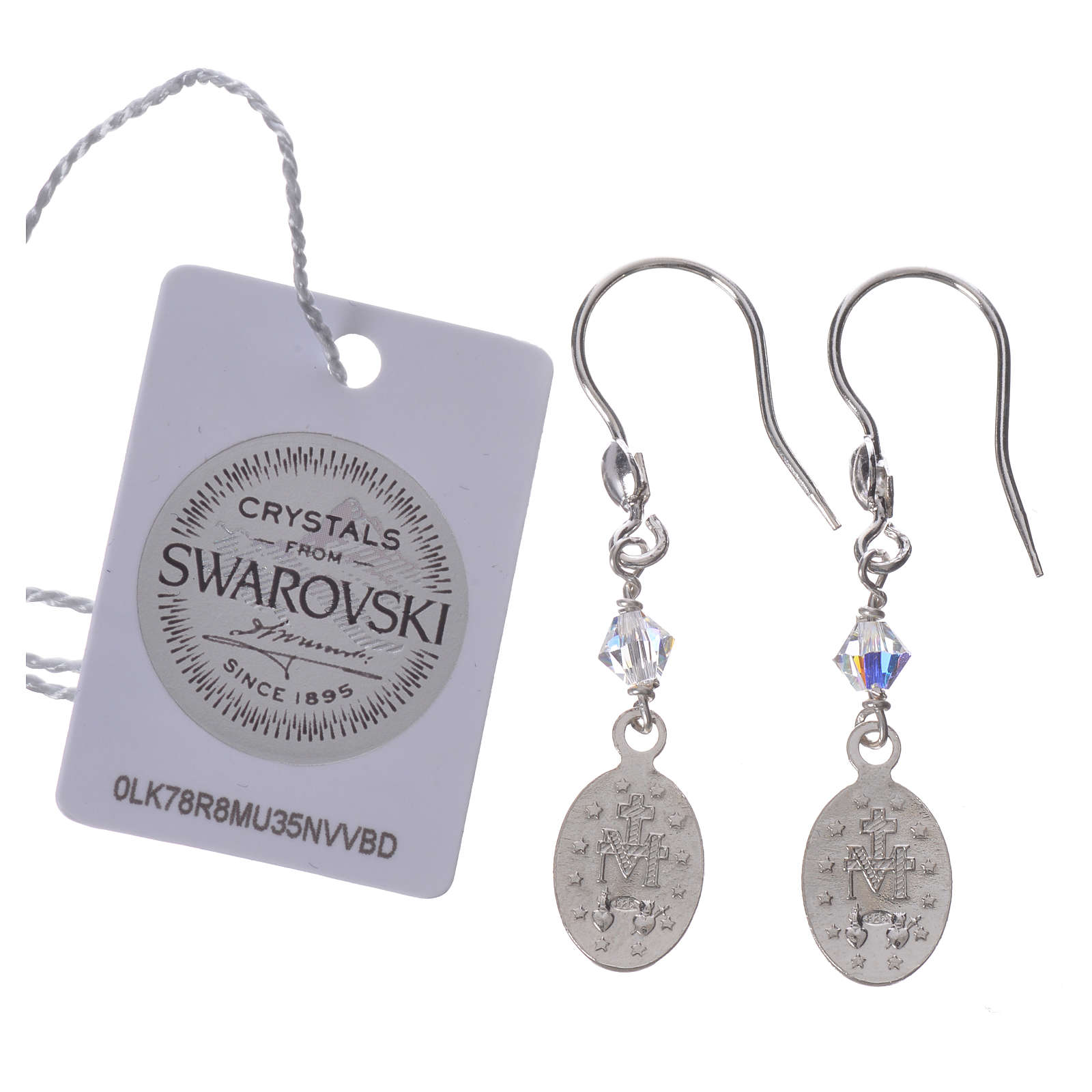 Earrings in 925 silver with Miraculous Medal image 4