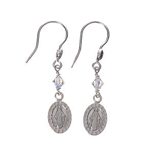 Earrings in 925 silver with Miraculous Medal image s1