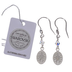 Earrings in 925 silver with Miraculous Medal image s2