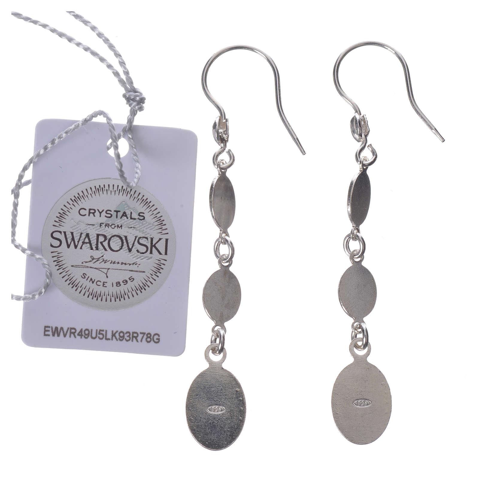 Earrings in 925 silver and black Swarowski, Lourdes 4