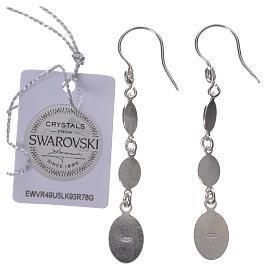 Earrings in 925 silver and black Swarowski, Lourdes s2