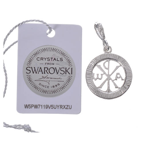 Ciondolo argento 800 e Swarovski nero 2