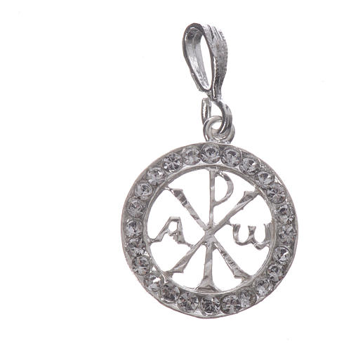 Pendant charm in 925 silver and white Swarowski crystal 3