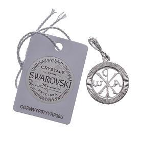 Colgante plata 925 y Swarovski blanco s2