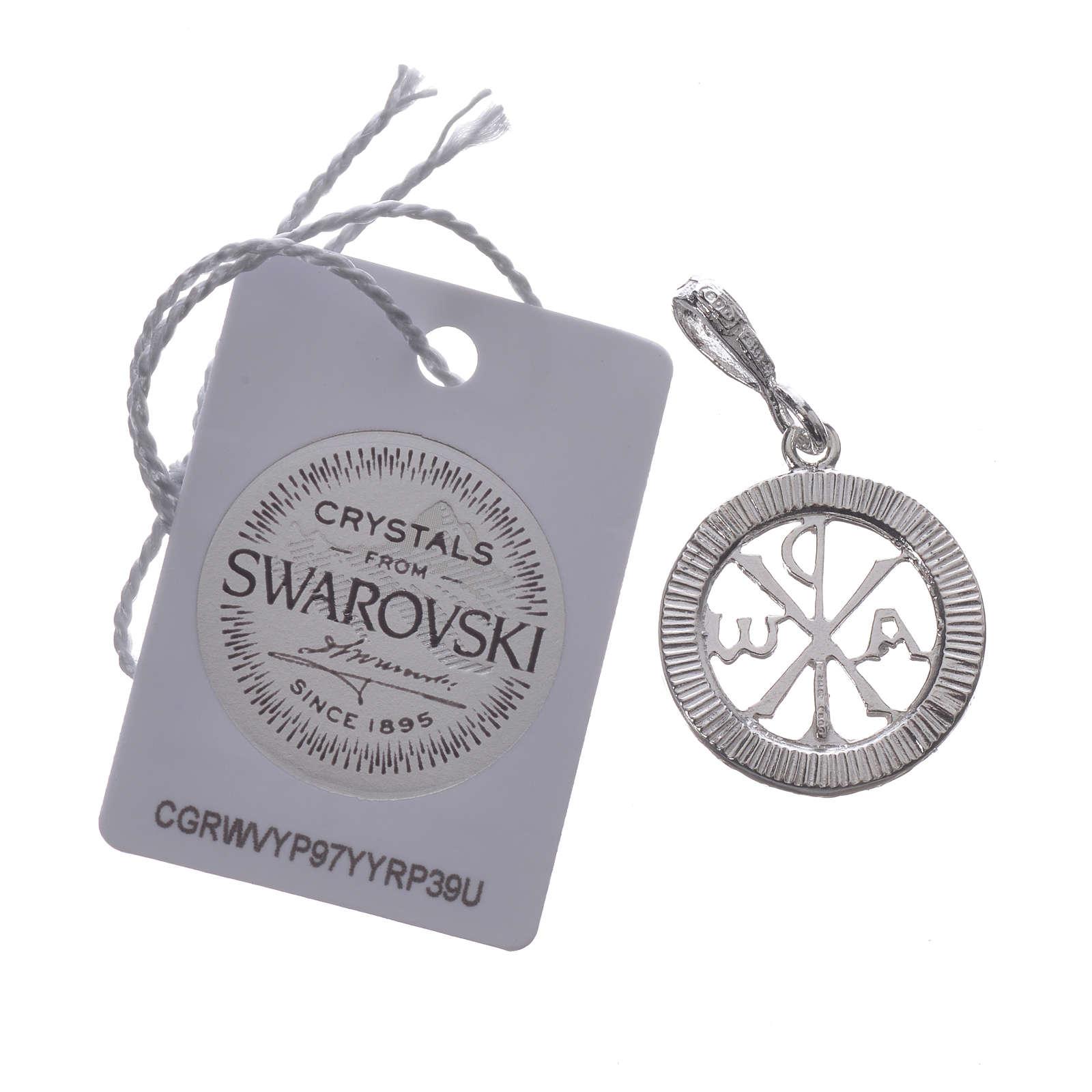 Ciondolo argento 925 e Swarovski bianco 4