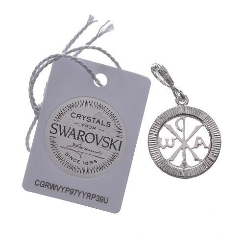 Zawieszka srebro 925 Swarovski biały 2