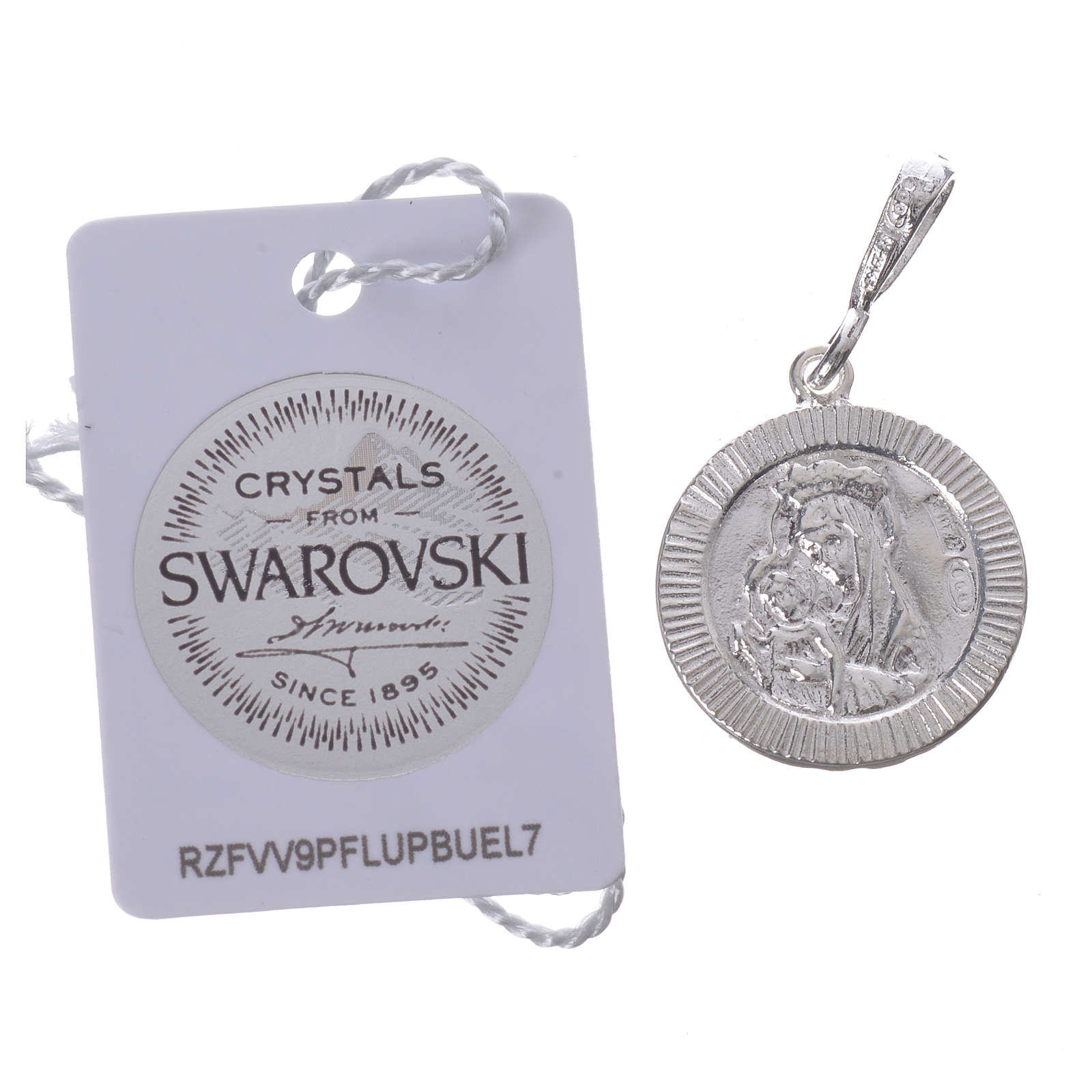Pendant charm in 925 silver and black Swarowski with Pax symbol 4