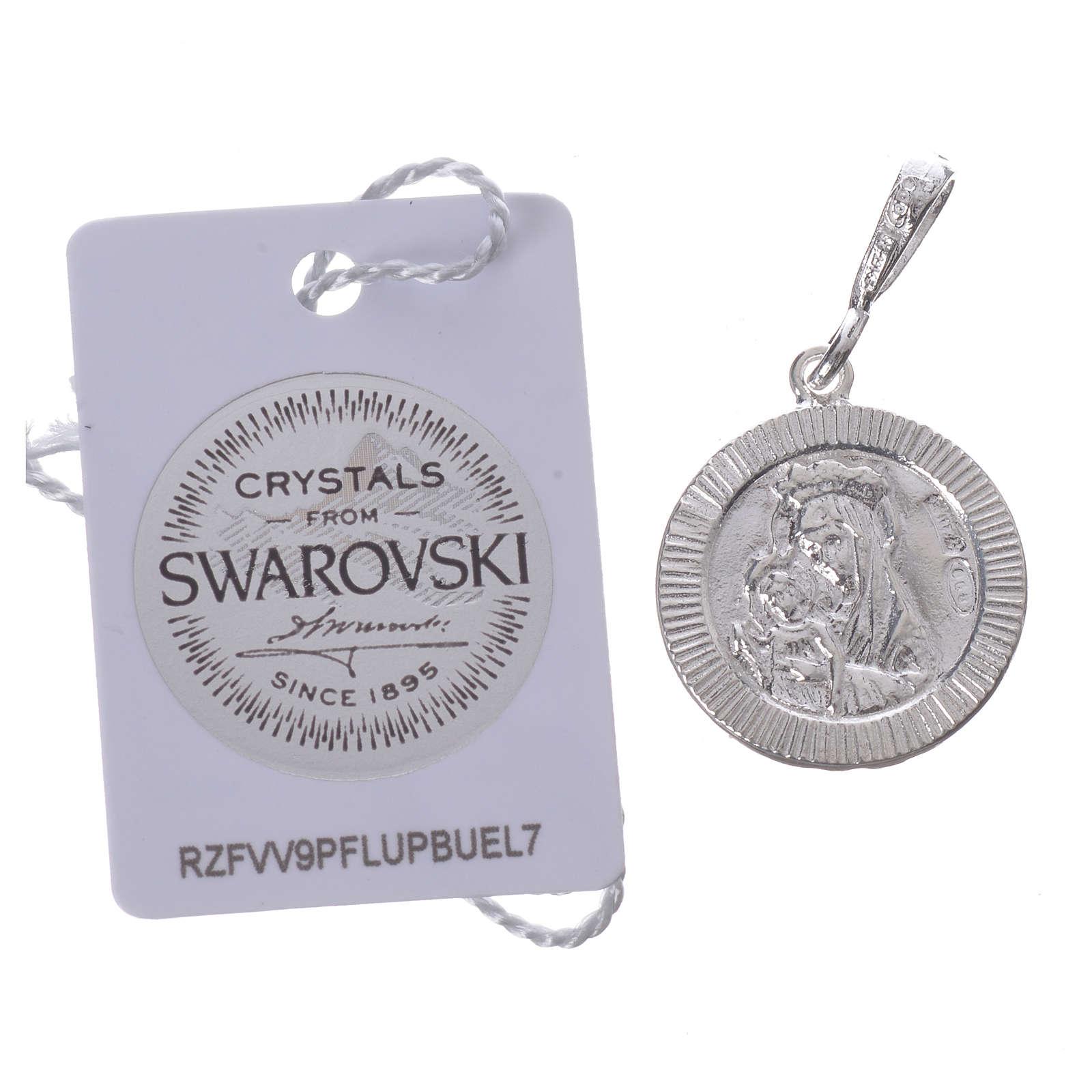 Pingente prata 925 e Swarovski preto Chi-Rho 4