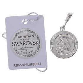 Pingente prata 925 e Swarovski preto Chi-Rho s2