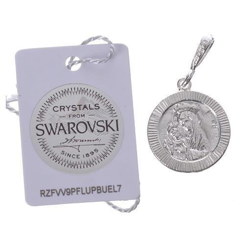 Pingente prata 925 e Swarovski preto Chi-Rho 2